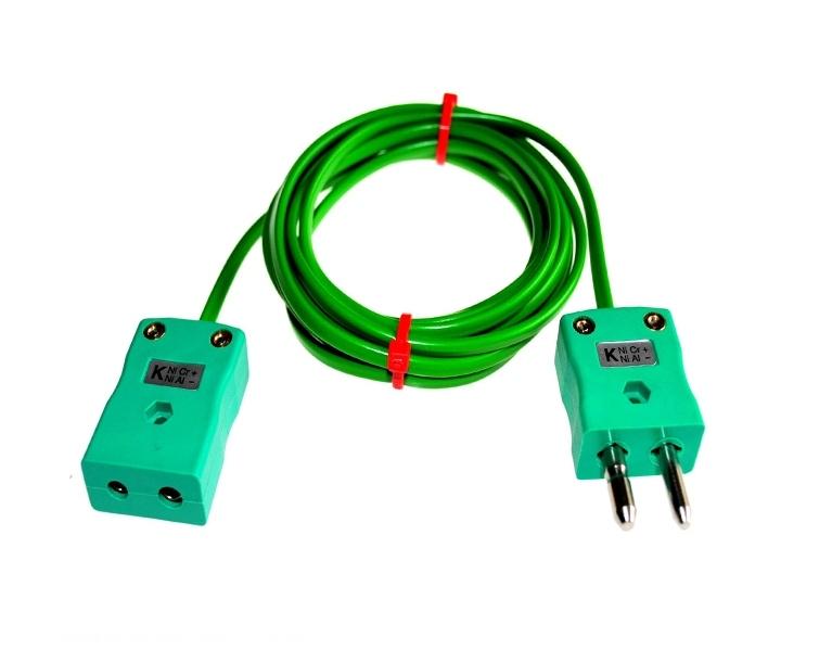 Cables de extensión con enchufes de termopar y enchufes IEC