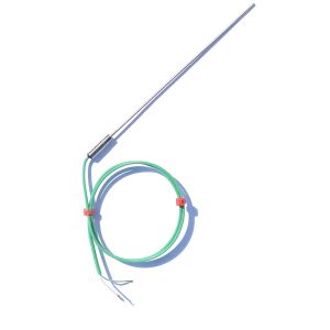 0.25mm Diameter Fast Response Mineral Insulated Thermocouple with Plain Pot & PFA IEC Tails - Type K