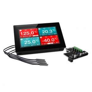 Lascar EL-SGD 43-ATP - Registrador de datos de temperatura de cuatro canales montable en panel