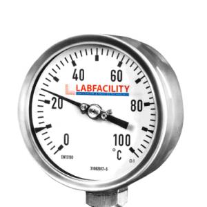 Medidores de temperatura del termómetro bimetálico - Estilo de entrada inferior sin bolsillo