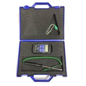 Kit Legionella Pro con termómetro de temporizador integral, sonda y termopar moldeado