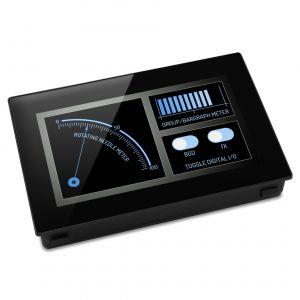 """Lascar PanelPilot SGD 43-A - Pantalla de 4.3"""" con interfaces analógicas, digitales, PWM y seriales"""