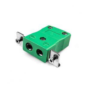 Conector de termopar de montaje en panel estándar con soporte de acero inoxidable IS-K-SSPF tipo K IEC