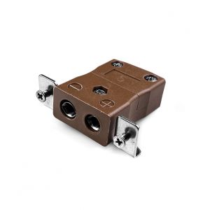 Conector de termopar de montaje en panel estándar con soporte de acero inoxidable IS-T-SSPF tipo T IEC