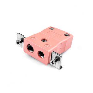Conector de termopar de montaje en panel estándar con soporte de acero inoxidable IS-N-SSPF tipo N IEC