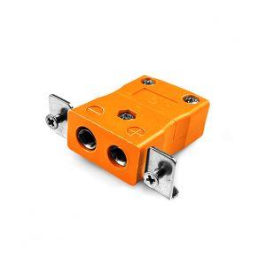 Conector de termopar de montaje en panel estándar con soporte de acero inoxidable AS-N-SSPF tipo N ANSI