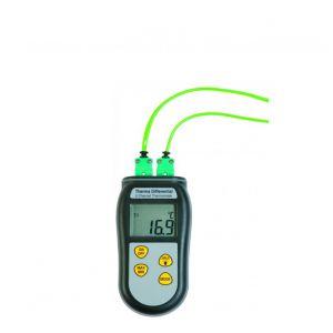 Termómetro diferencial Therma (Tipo K) con calibración opcional y sondas