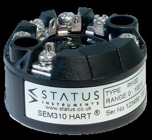 Estado SEM310 MKII - Universal, de entrada dual, transmisor de temperatura HART de alto rendimiento