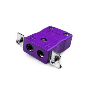Conector de termopar de montaje en panel estándar con soporte de acero inoxidable AS-E-SSPF tipo E ANSI