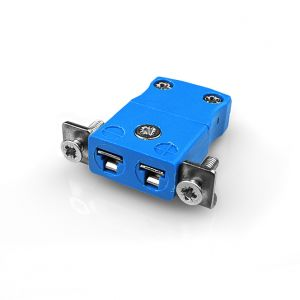 Conector de termopar de montaje en panel en miniatura con soporte de acero inoxidable JM-K-SSPF Tipo K JIS