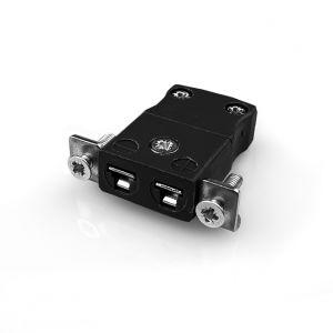 Conector de termopar de montaje en panel en miniatura con soporte de acero inoxidable JM-R/S-SSPF Tipo R/S JIS