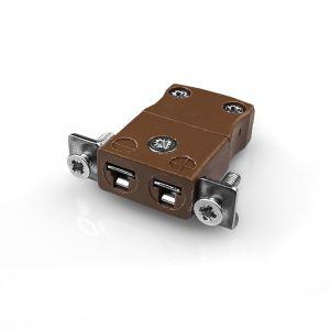 Conector de termopar de montaje en panel en miniatura con soporte de acero inoxidable JM-T-SSPF tipo T JIS