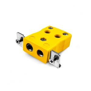 Conector de termopar de montaje en panel de alambre rápido estándar con soporte de acero inoxidable JS-J-SSPFQ Tipo J JIS