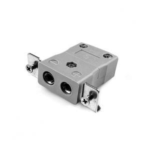 Conector de termopar de montaje en panel estándar con soporte de acero inoxidable JS-B-SSPF Tipo B JIS