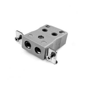 Conector de termopar de montaje en panel de alambre rápido estándar con soporte de acero inoxidable JS-B-SSPFQ Tipo B JIS
