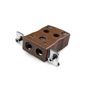 Conector de termopar de montaje en panel de alambre rápido estándar con soporte de acero inoxidable JS-T-SSPFQ Tipo T JIS