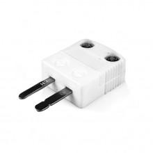 Miniatura (650° C) de alta temperatura termopar cerámica enchufe tipo AM-E-M-HTC E ANSI