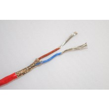 Termopar tipo K defendido y forró el Cable de PTFE / de alambre