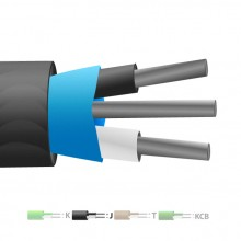Aislamiento de PVC tipo J Mylar termopar Cable blindado / hilos (IEC)