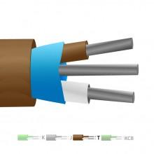 Aislamiento de PVC tipo T Mylar termopar Cable blindado / hilos (IEC)