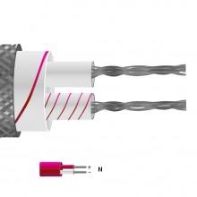 Tipo J pares planos aislados de fibra de vidrio Cable / alambre con trenzado de acero inoxidable (IEC)