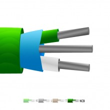 Tipo VX (KCB) PVC aislante Mylar termopar Cable blindado / hilos (IEC)