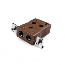 Estándar rápido Panel termopar montaje conector con soporte de acero inoxidable T-JS-SSPFQ tipo JIS T